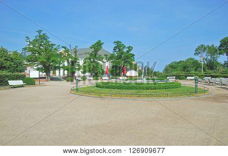 Promenade of Heringsdorf on Usedom Island at Baltic Sea,Mecklenburg western Pomerania,Germany