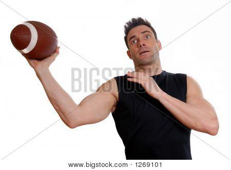 Athlet mit Fußball