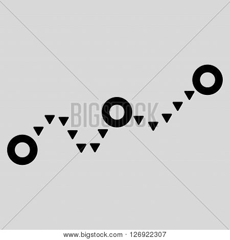 Dotted Chart vector icon. Dotted Chart icon symbol. Dotted Chart icon image. Dotted Chart icon picture. Dotted Chart pictogram. Flat black dotted chart icon. Isolated dotted chart icon graphic.