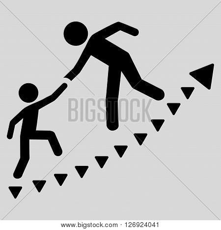 Education Progress vector icon. Education Progress icon symbol. Education Progress icon image. Education Progress icon picture. Education Progress pictogram. Flat black education progress icon.