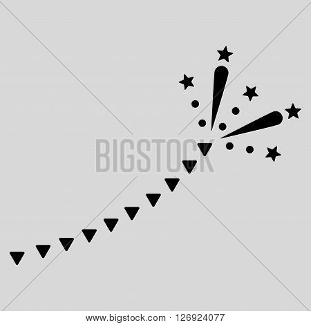 Fireworks Trace vector icon. Fireworks Trace icon symbol. Fireworks Trace icon image. Fireworks Trace icon picture. Fireworks Trace pictogram. Flat black fireworks trace icon.