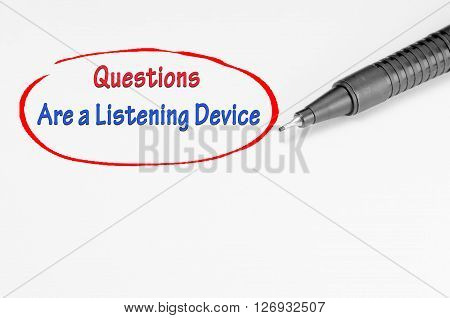 Question Are A Listening Device - Business Concept