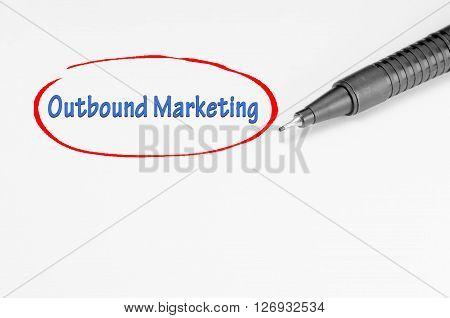 Outbound Marketing - Business Concept