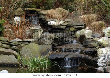 Landscaped Waterfall