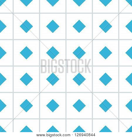 Rhomb vector seamless pattern. Geometric seamless texture with rhombs and perpendicular lines on white background. Rhombic wallpaper design. EPS8 vector illustration. Pattern swatch included.