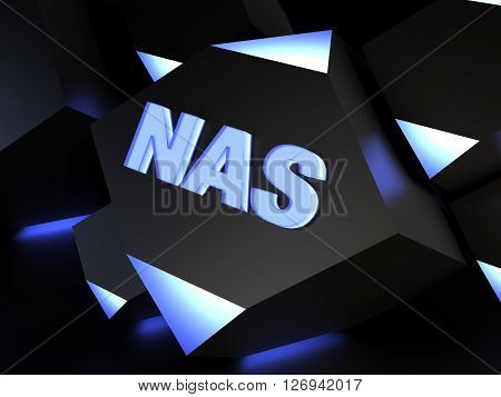 NAS - Network-attached storage - computer generated image (3D render)