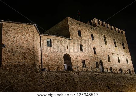 The Malatesta castle of Mondaino (Rimini), Italy