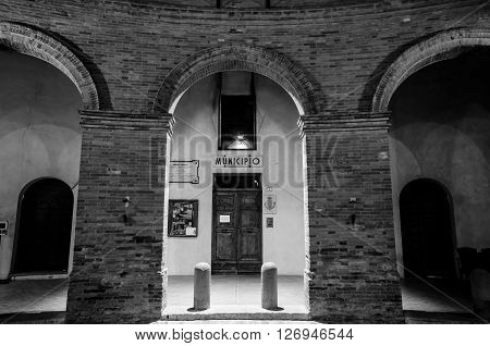 The old town of Mondaino (Rimini), Italy.