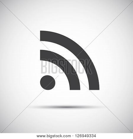 Simple flat rss icon feed symbol vector illustration