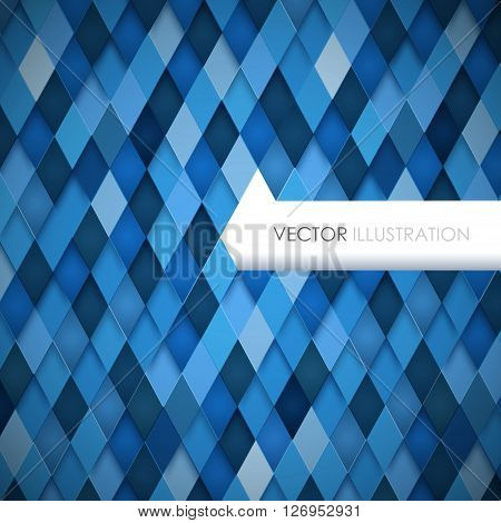 Abstract rhombus background. Vector Illustration. Clip -art