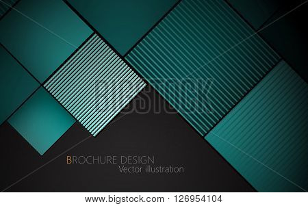 Business Brochure Cover Design Template. Vector Background
