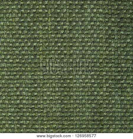 Olive drab fabric texture. Close up top view.