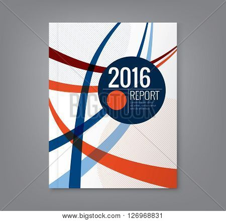 Abstract curved line design background template for business annual report book cover brochure flyer poster