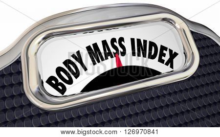 Body Mass Index Words Scale BMI Measure Overweight Fat Loss