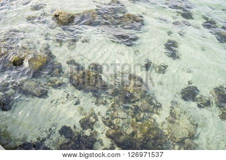 vacation, rocks by the Mediterranean Sea on the island of Mallorca in Spain