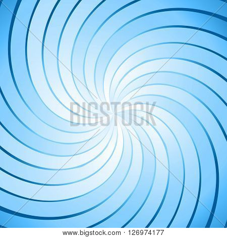 Abstract blue ray twirl background, stock vector