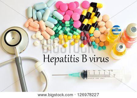 Syringe with drugs for hepatitis B virus treatment