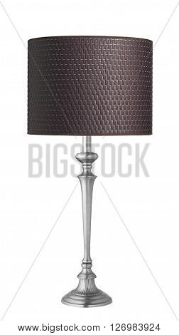 wooden lampshade isolated on a white background