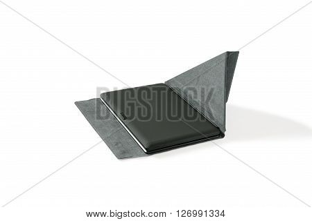 Tablet PC and keyboard. Isolated on white background.