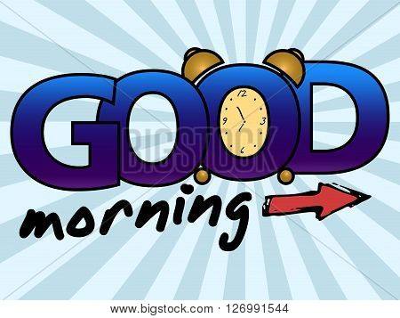 Good morning greeting card. Vector stock illustration