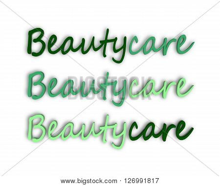Beautycare - 3D Word with Reflection !