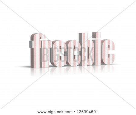 Freebie - 3D Word with Reflection !