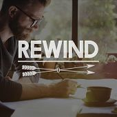 Rewind Replay Restart Recover Concept poster