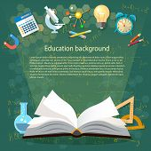 Time to education open book school subjects power of knowledge back to school effective education poster