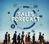 Sales Forecast FInance Analyst Competition Concept poster