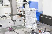 inspection automotive part dimension by CMM measuring machine poster