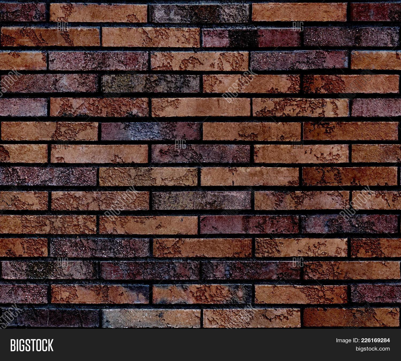 Seamless Worn Grunge Brown Brick Wall Pattern Background Texture Ar