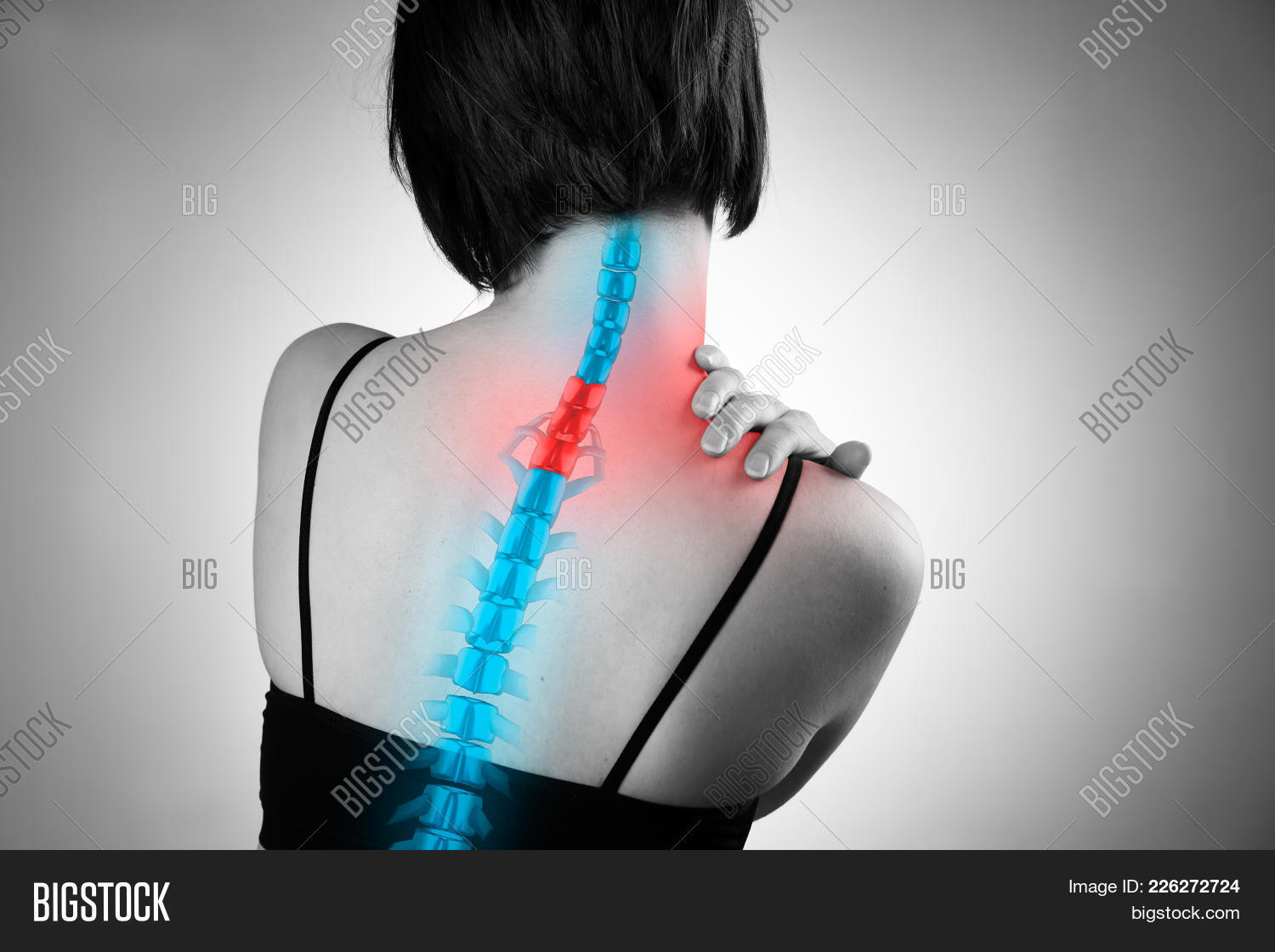 Pain Spine, Woman Image & Photo (Free Trial) | Bigstock