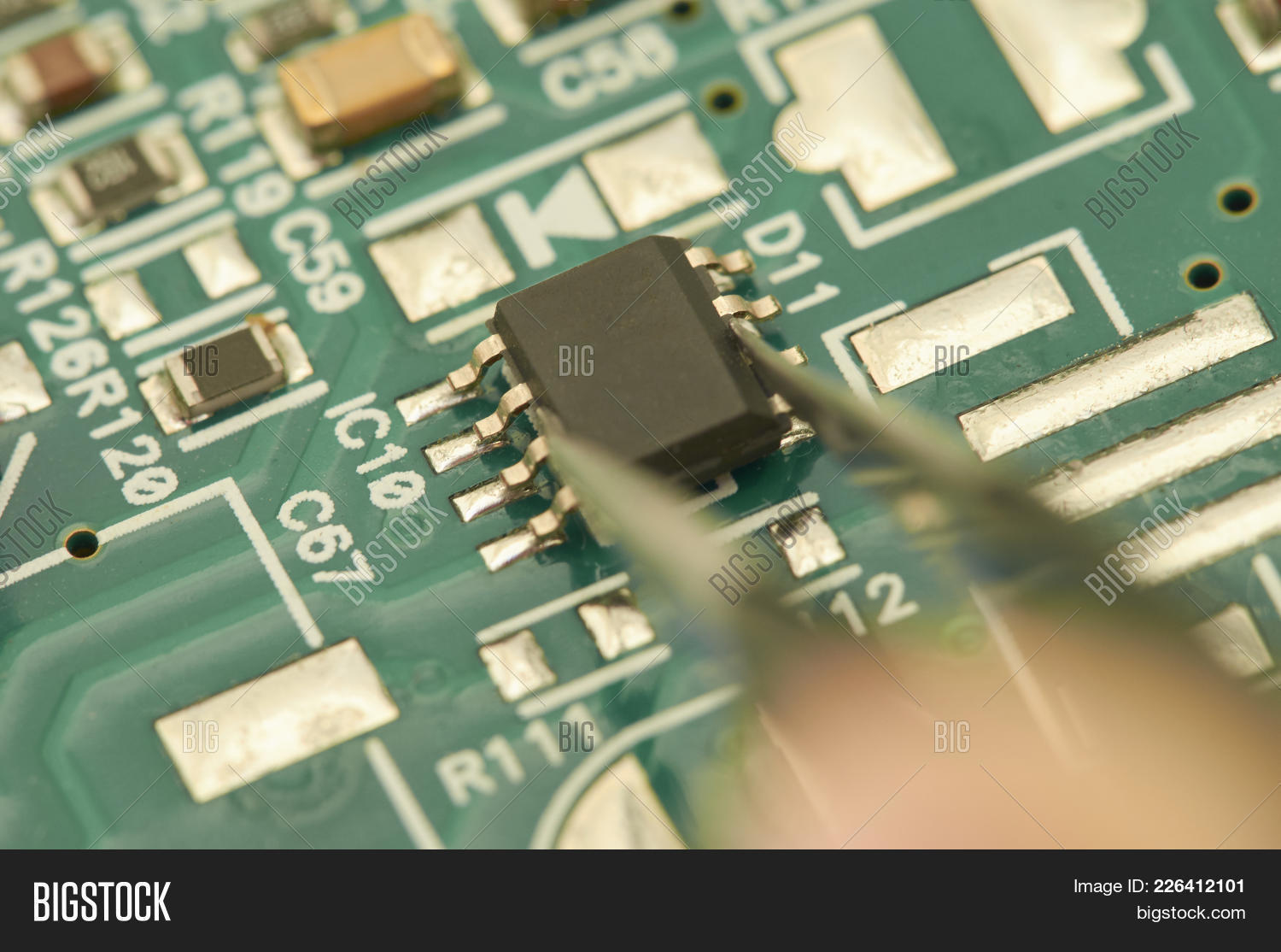 Electronic Circuit Image Photo Free Trial Bigstock Buy Pcb Printed Boardspcb Board With Processor Microchips And Glowing