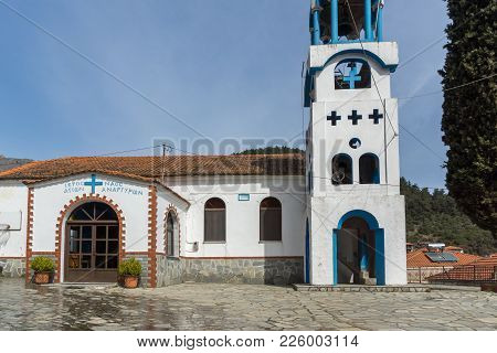 Orthodox Church In Village Of Potamia, Thassos Island,  East Macedonia And Thrace, Greece