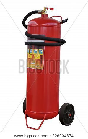 Modern Powder Fire Extinguisher High Capacity For The Elimination Of Fires Of Different Classes On A