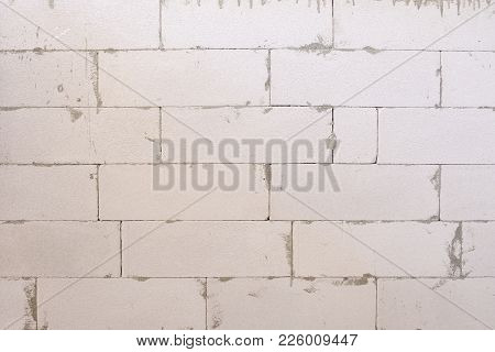 White Brick Wall Is Still Being Built, Texture Background