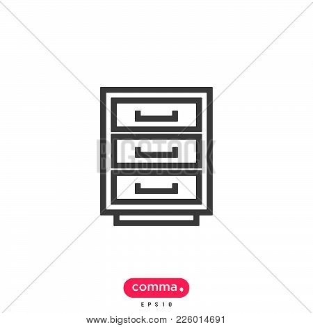Office Shelf Icon Isolated On White Background. Office Shelf Icon Modern Symbol For Graphic And Web