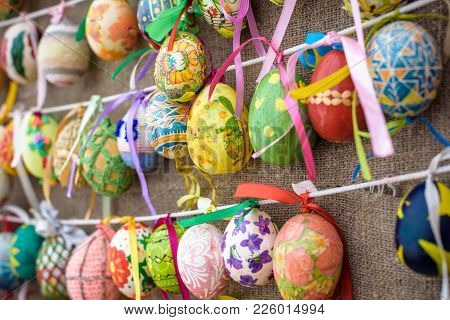 Kyiv, Ukraine April 9, 2017: Yearly Easter Exhibition