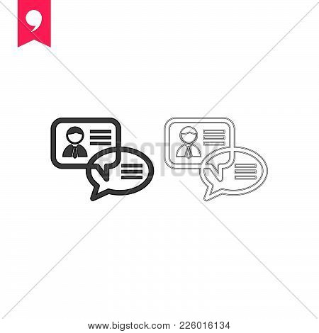 Speech Buble Icon Isolated On White Background.  Speech Buble Icon Modern Symbol For Graphic And Web