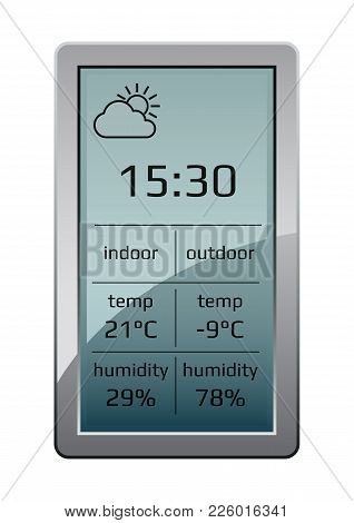 Wireless Climate Monitoring Equipment. Home Weather Station Widget. Weather Station Home Equipment,