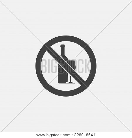 No Alcohol Icon Vector Illustration. Habit Icon Vector.