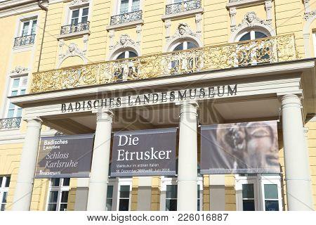 Karlsruhe, Germany, January 21st 2018, Entrance Of The
