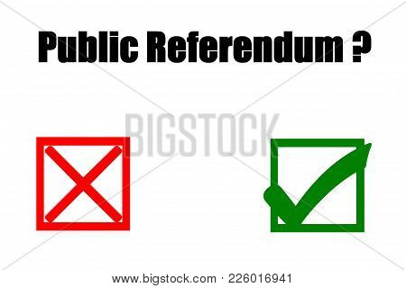 Public Referendum - Yes Or No.concept Of Illustration On Public Referendum - Yes Or No.