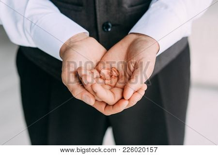 Groom Man Wedding Hands Rings Morning