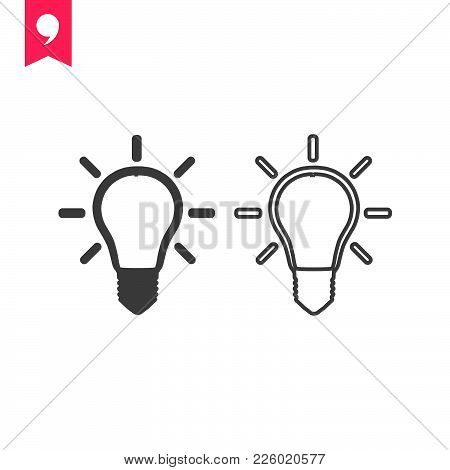 Lamp Icon Isolated On White Background. Lamp Icon Modern Symbol For Graphic And Web Design. Lamp Ico
