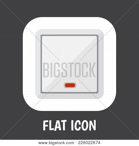 Vector Illustration Of Electrical Symbol On Light Icon Flat. Premium Quality Isolated Switch  Elemen