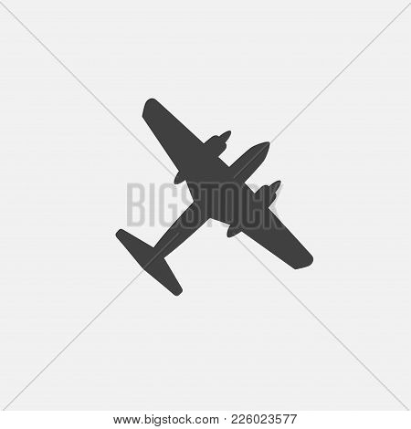 Plane Icon Vetor, War Plane Icon Vector