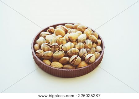Fried Salted Pistachios Nut Food Taste Delicious Beneficial Features Harvest Appetite