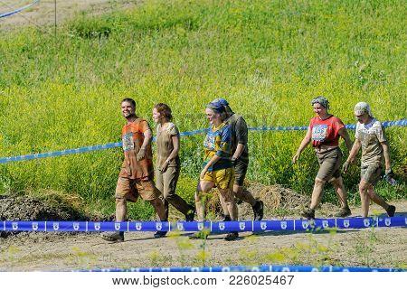 Tyumen, Russia - July 9, 2016: Steel Character Extrim Race On Voronino Hill