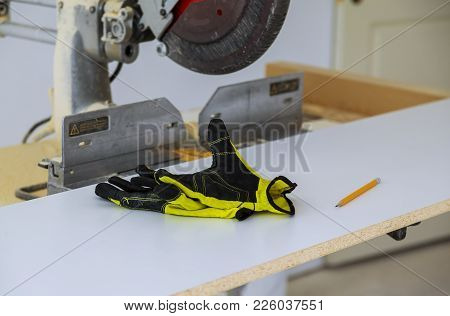 Construction Gear Workers Power Saw And Safety Tools Tool Tape Measure Drill
